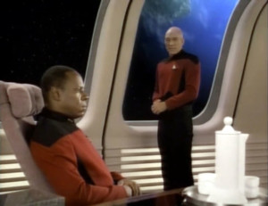 Sisko and Picard at DS9