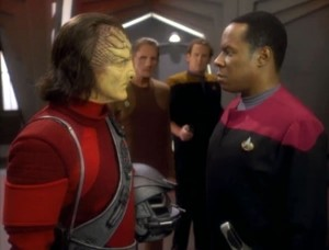 The hunter and Sisko square off