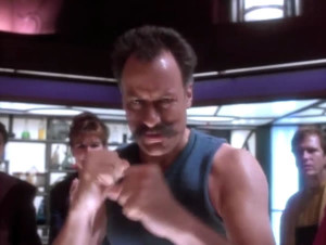 Q, ready to box with Sisko